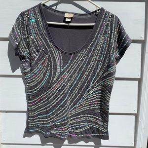 DayTrip sequin T-shirt
